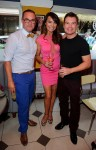 Nick Ede, Lizzie Cundy and Greg Burns